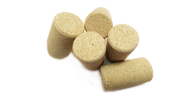 Micro-granulated cork stoppers